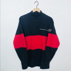 90's Polo Hi Tech Rare Long-sleeve Mock-Neck Tee